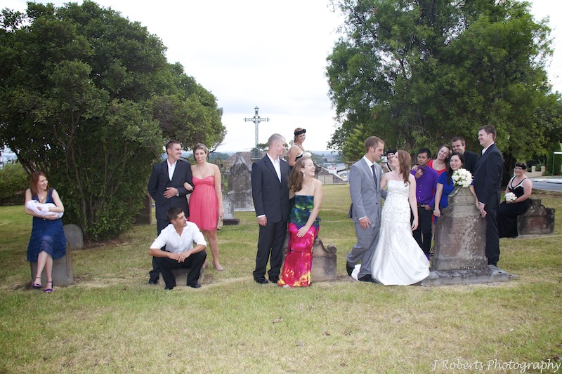 Couple with friends - wedding photography sydney