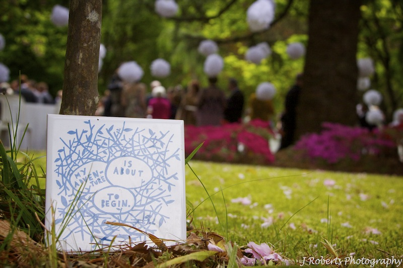 special tile at wedding ceremony - wedding photography