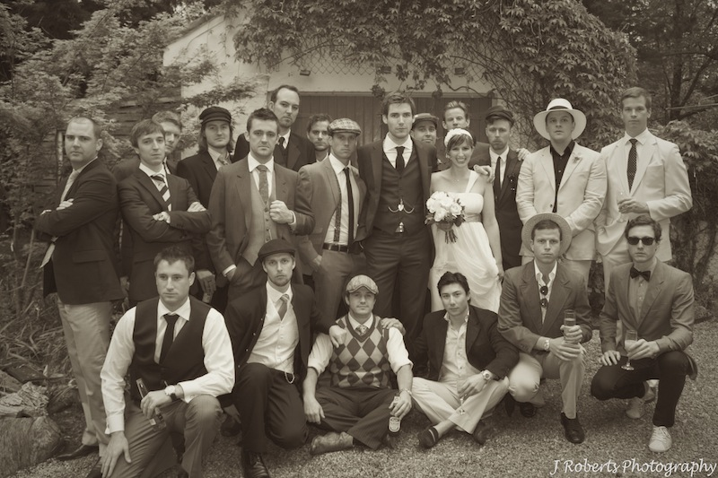 Group photography 1920s style - wedding photography