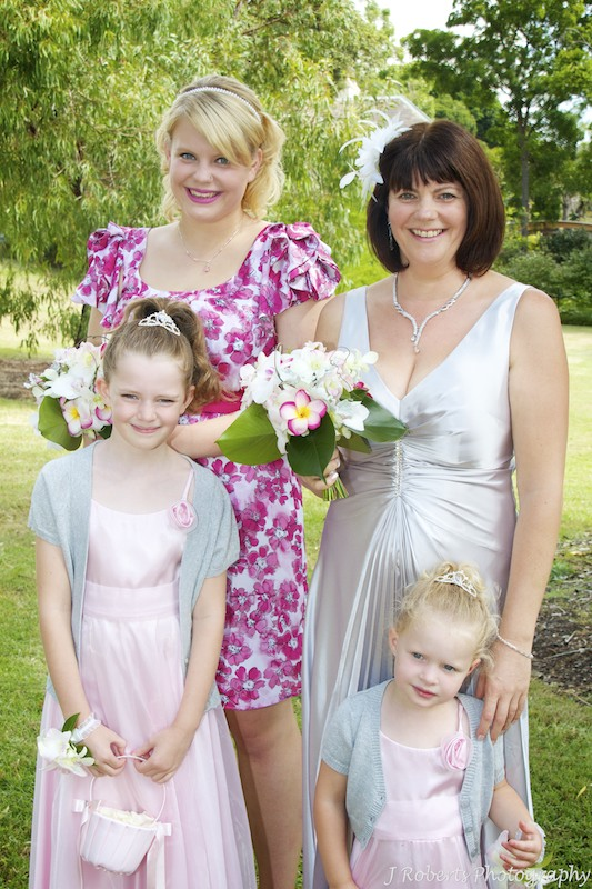 Bride and flowers girls - wedding photography sydney