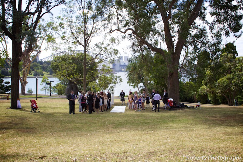 Groom waiting for the bride - wedding photography sydney