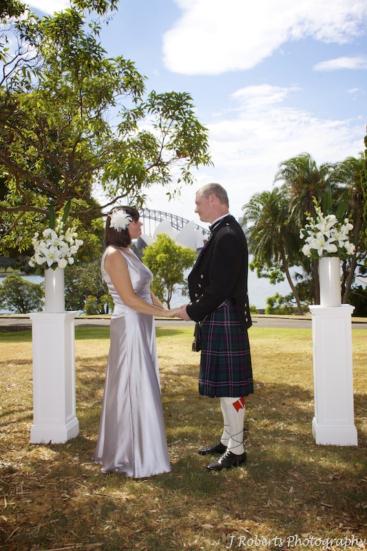Bride and groom exchanging vows - wedding photography sydney
