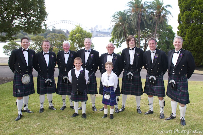 Guests in kilts - wedding photography sydney