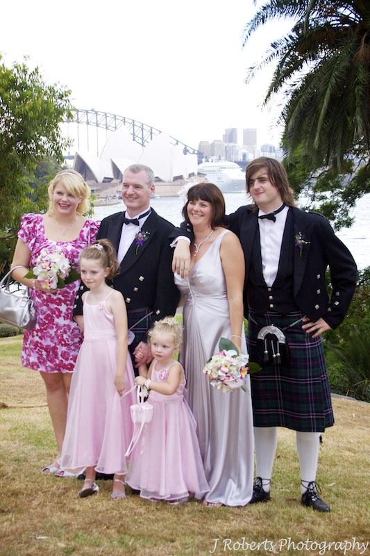 Bride and groom with family - wedding photography sydney