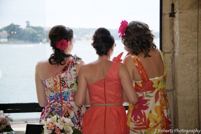 Girls looking at view Wolfies - wedding photography sydney
