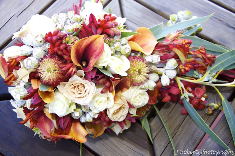 Native australian flower bouquet - wedding photography sydney