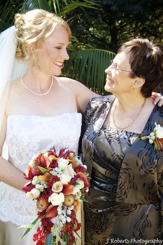 Bride and mother before wedding - wedding photography sydney