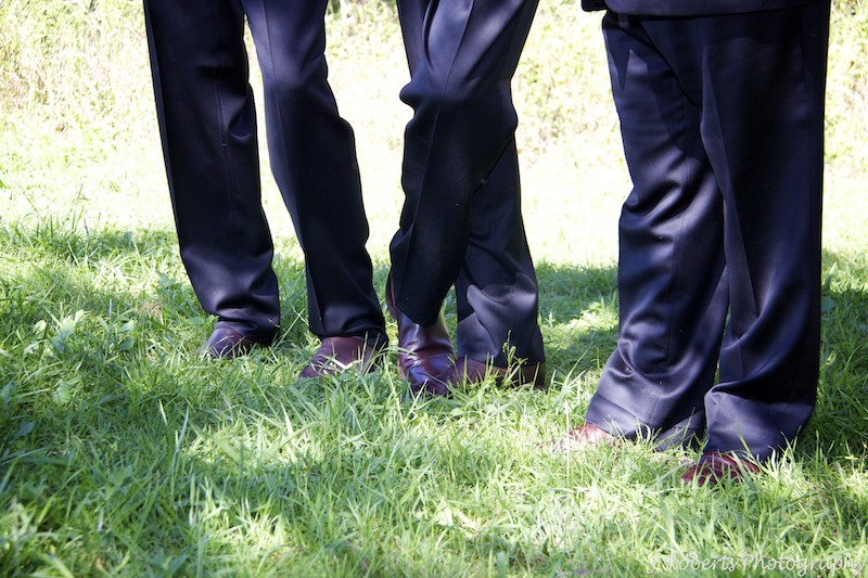Groom and groomsmens RM Williams riding boots - wedding photography sydney