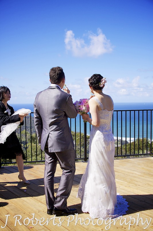 Champagne with the view - wedding photography sydney