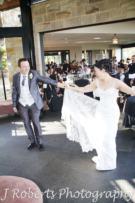 Couple dancing their first dance - wedding photography sydney