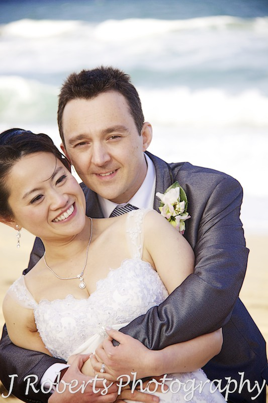 Cuddling couple - wedding photography sydney