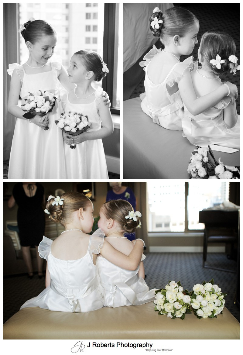 Young flower girls - wedding photography sydney