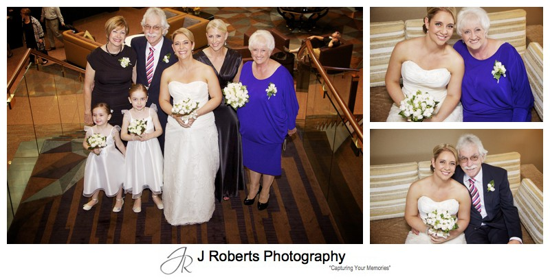 Bride with her family pre ceremony at the Four Seasons Sydney - wedding photography sydney