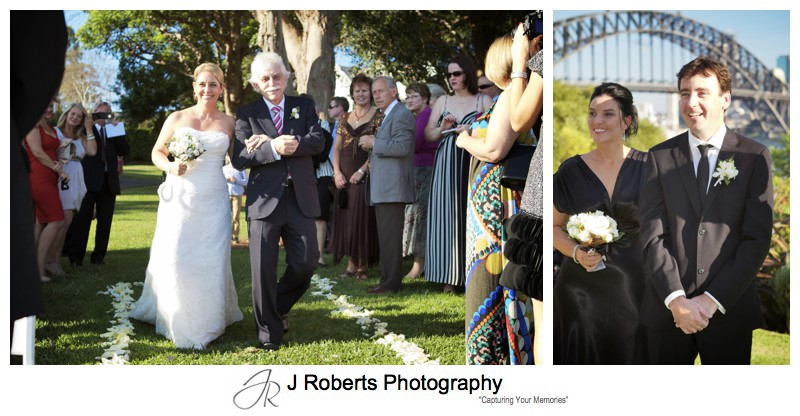 Groom seeing bride walk down the aisle - wedding photography sydney