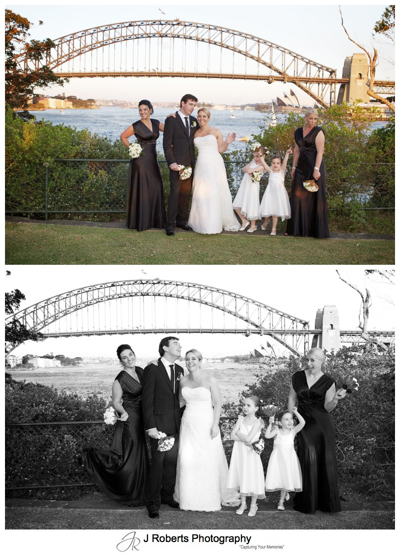 Crazy bridal party fun - wedding photography sydney