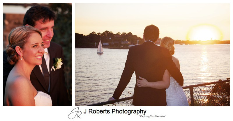 Sunset looking west on Sydney Harbour - wedding photography sydney