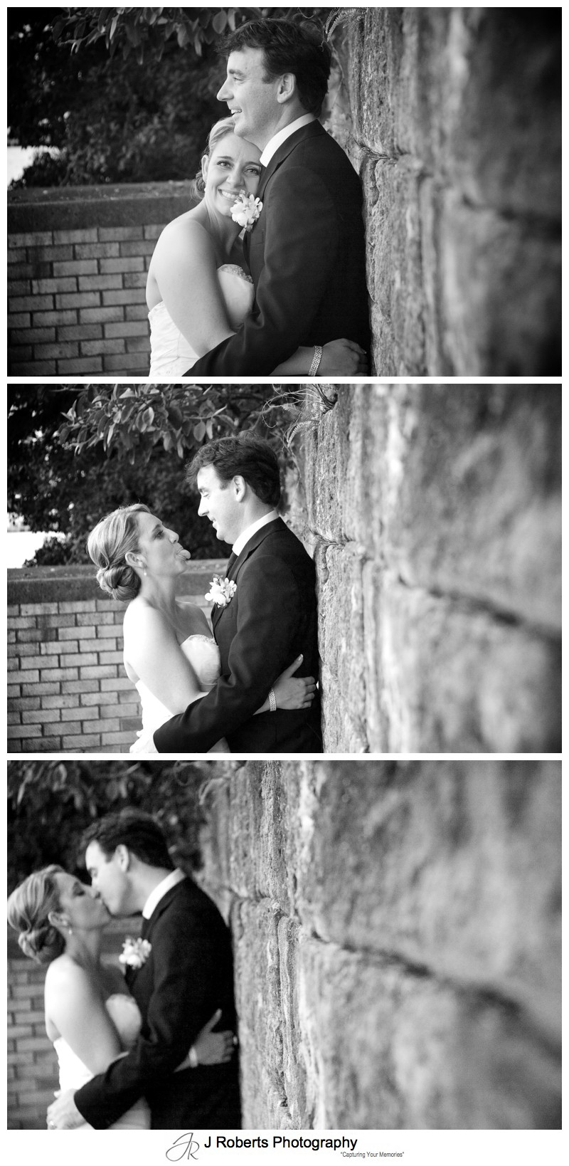 B&W portraits of a bride and groom - wedding photography sydney