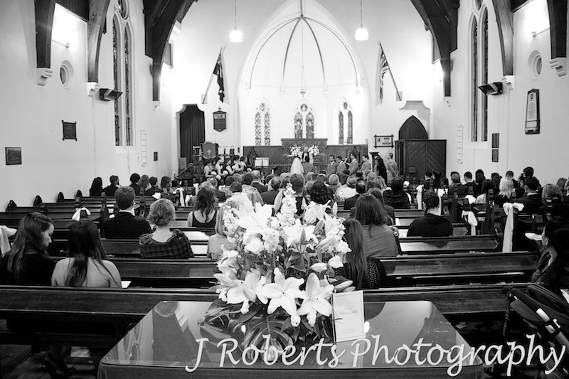 Wedding ceremony at Christ Church Lavender Bay - wedding photography sydney