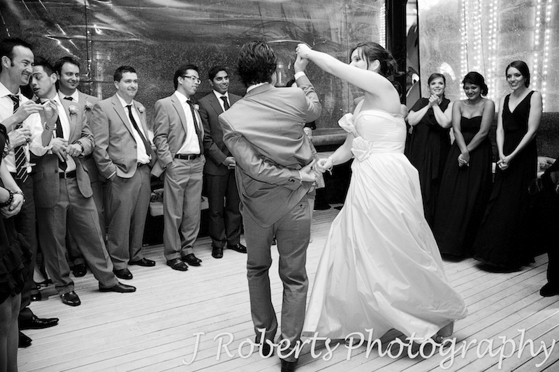Bridal waltz b&W - wedding photography sydney