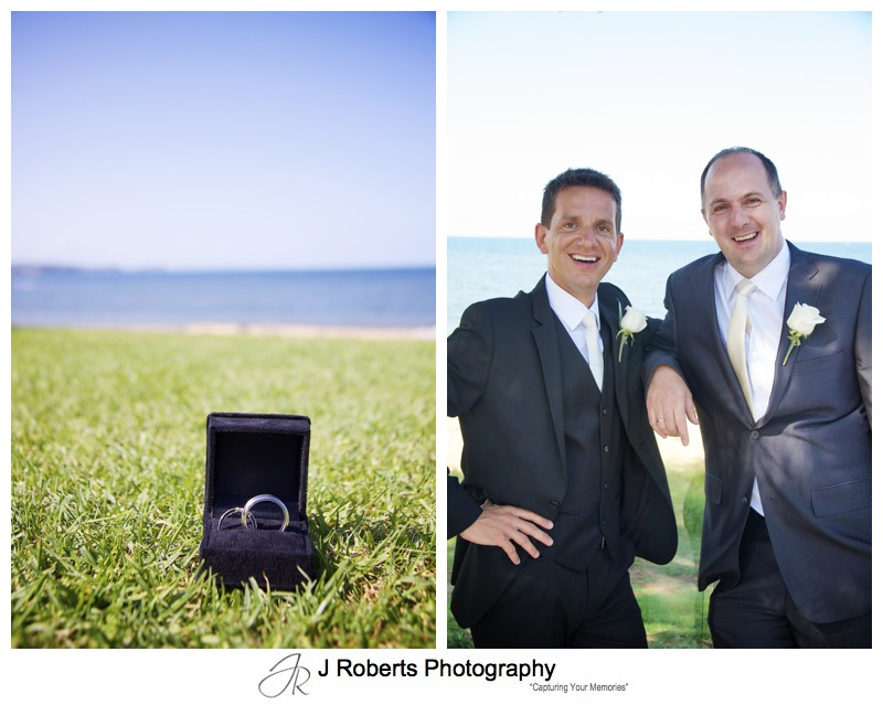 Wedding band and groom with best man - wedding photography sydney