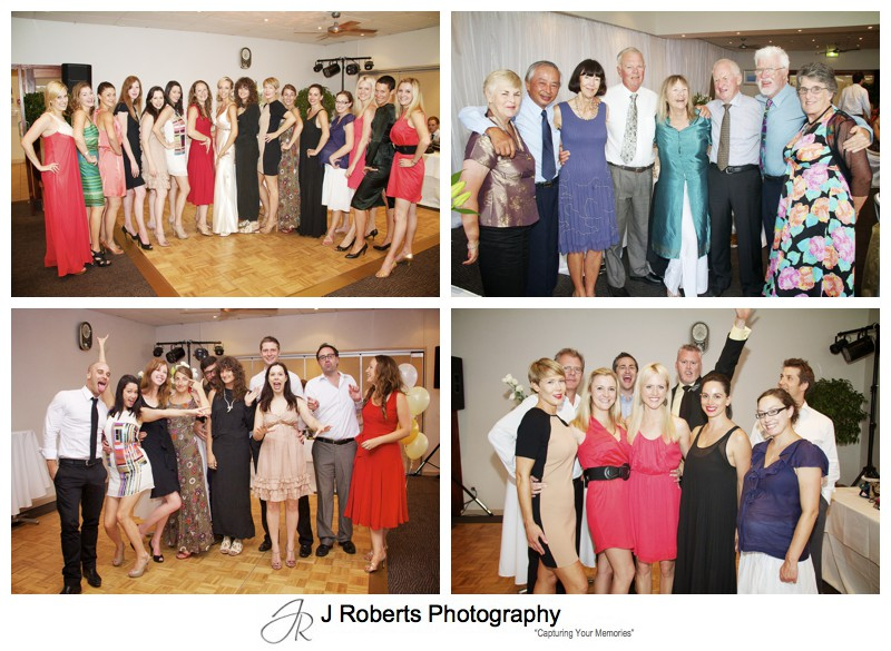 Group photos at wedding reception - wedding photography sydney