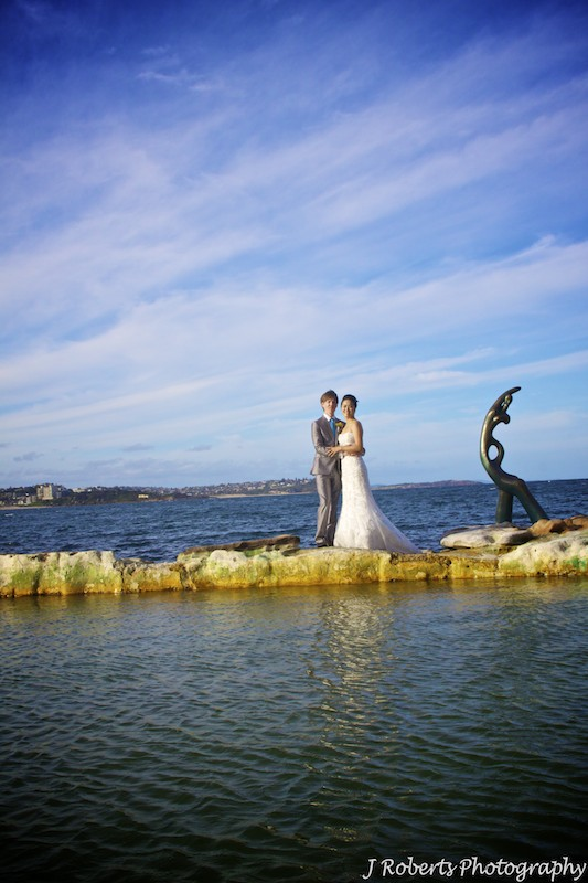 Bride & Groom shelley beach - wedding photography