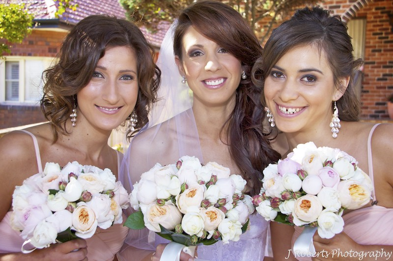 Bride and 2 bridesmaids - wedding photography sydney