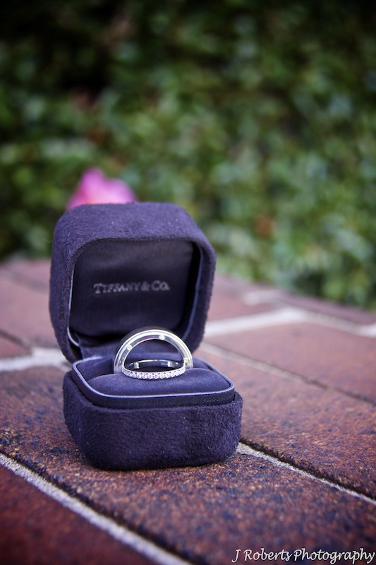 Wedding rings from Tiffany & Co - wedding photography sydney