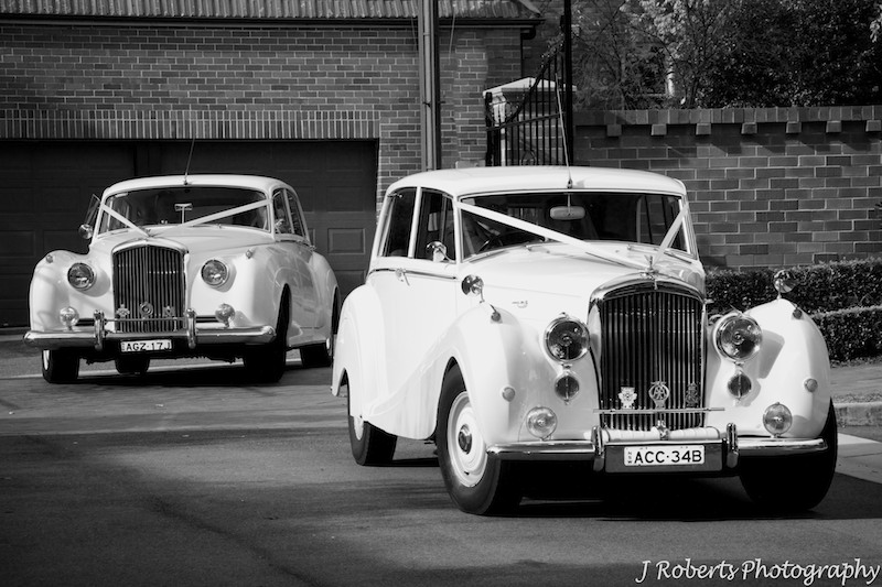 Bridal cars arriving at the church St Patricks College strathfield - wedding photography sydney