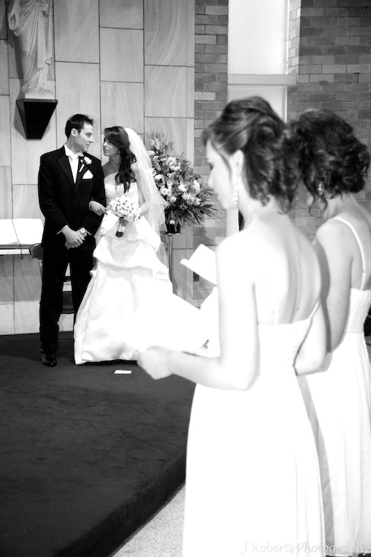 Bride and groom sharing a moment during the wedding ceremony - wedding photography sydney
