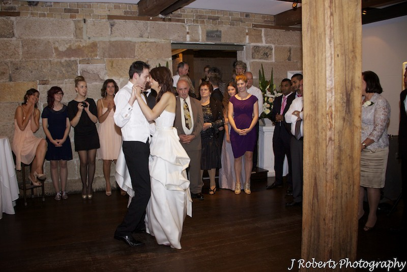 Bridal waltz, Wolfies Grill The Rocks - Wedding photography sydney