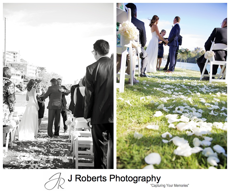 Sydney Wedding photography Mosman Rowers and Sirius Cove Mosman