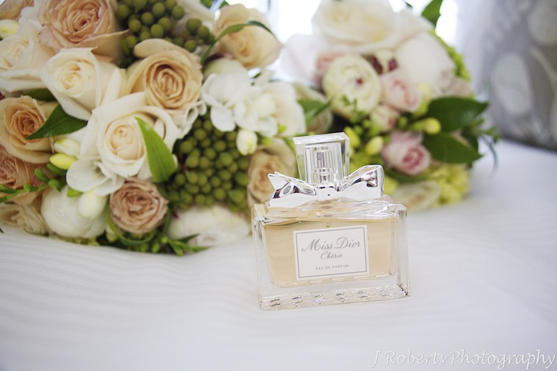 Bridal perfume Miss Dior Cherie - wedding photography sydney