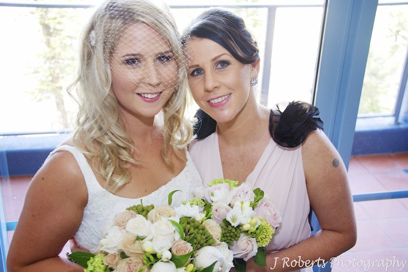 Bride with her sister pre wedding - wedding photography sydney