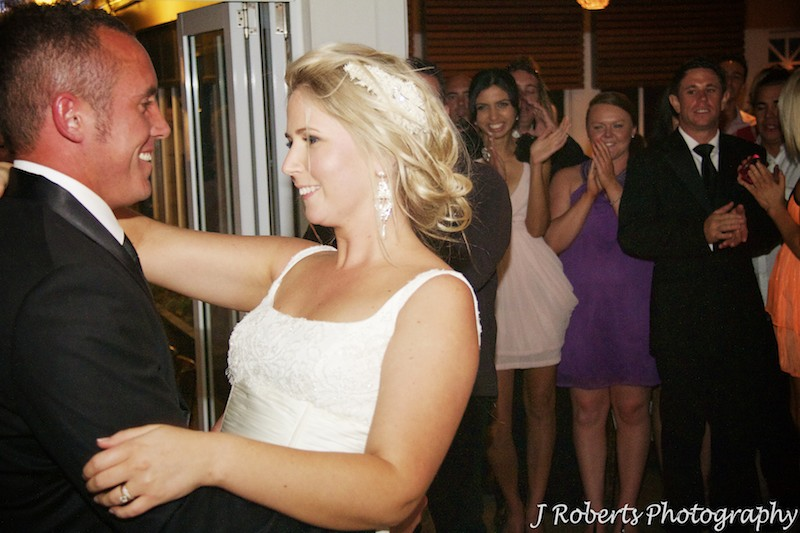 Bride and groom waltzing - wedding photography sydney