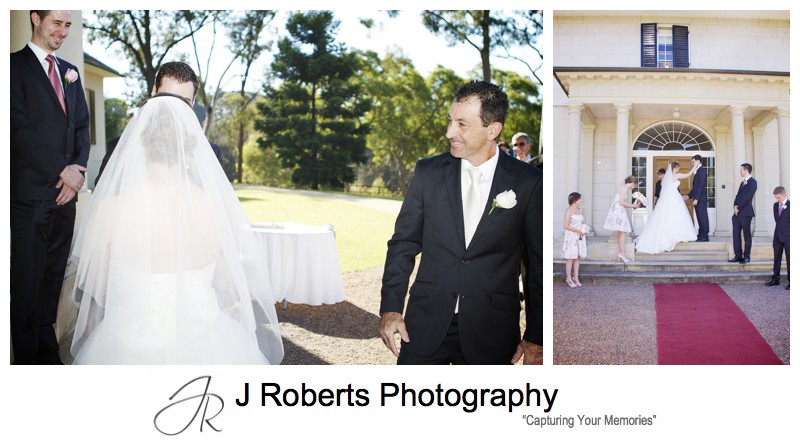 Father giving the bride away - wedding photography sydney