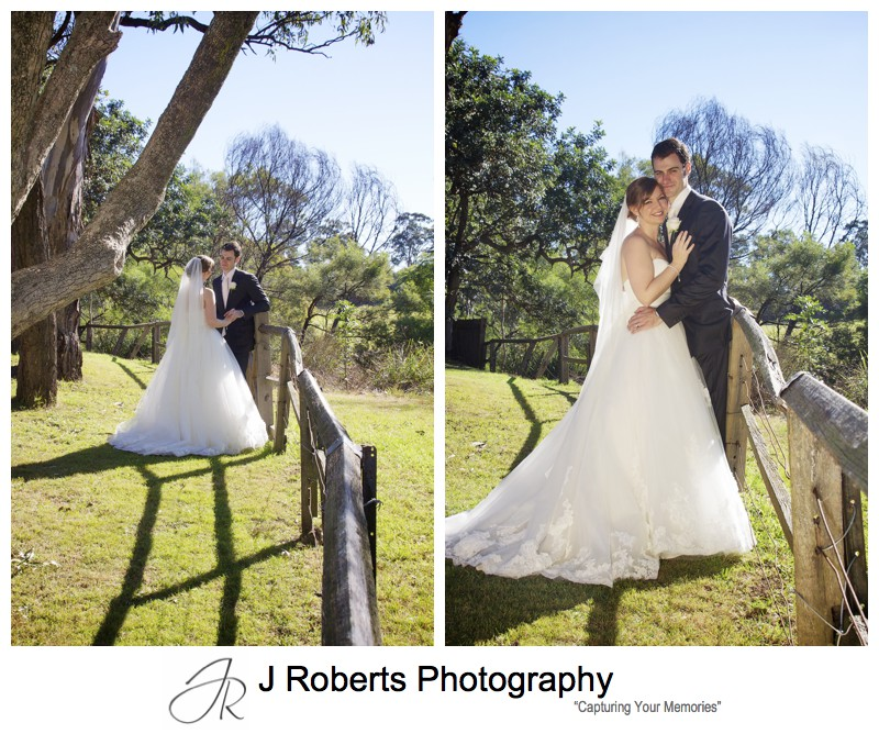 Bride and groom on the grounds of Old Government House Parramatta - wedding photography sydney