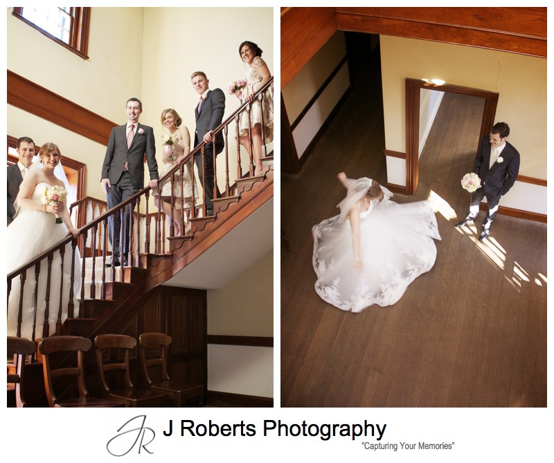 Bride party in the old government house parramatta - wedding photography sydney