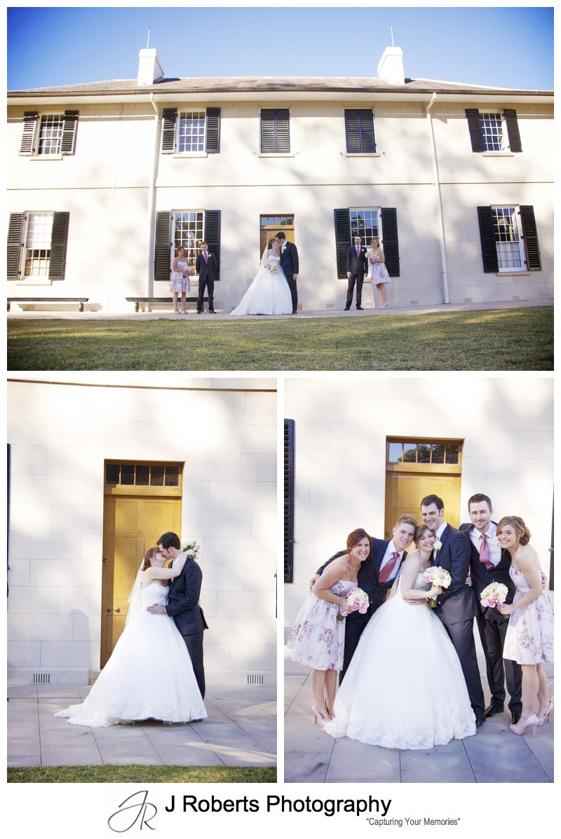 Bridal party with old government house parramatta - wedding photography sydney