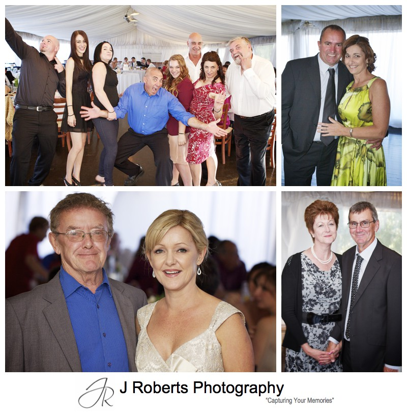 Guests portraits during wedding reception - wedding photography sydney