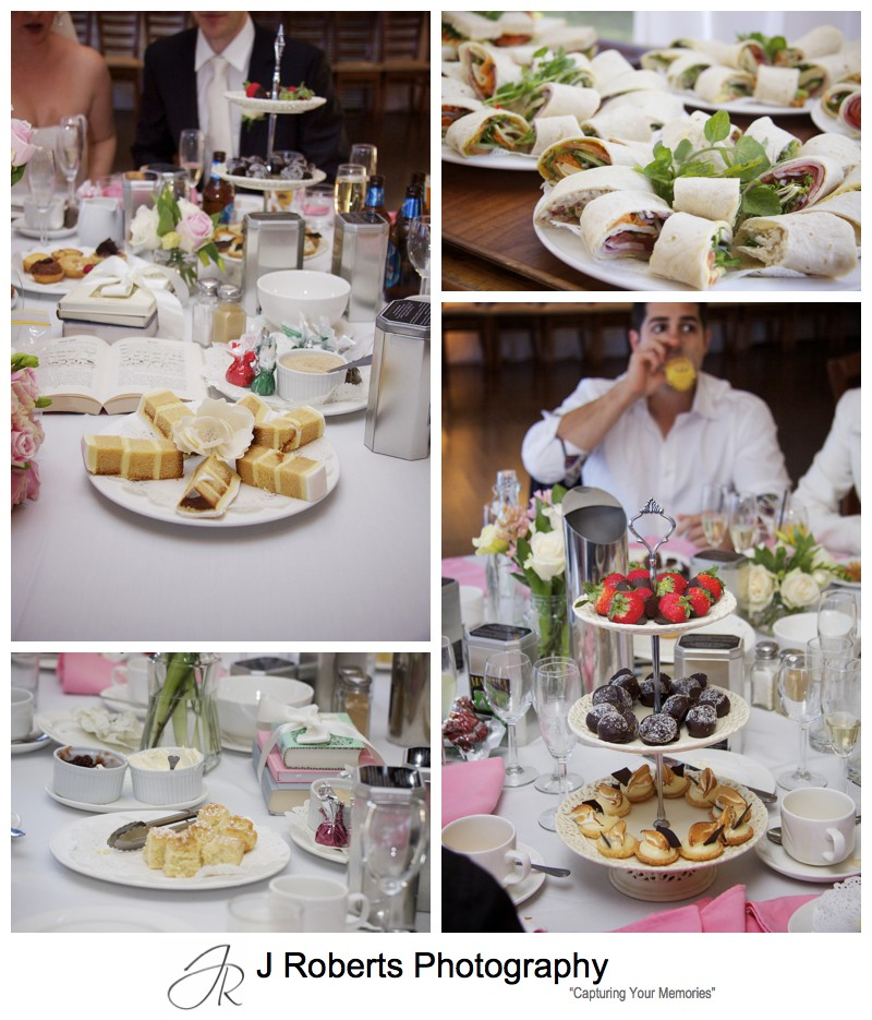 High tea food at Lawsons Old Government House Parramatta - wedding photography sydney