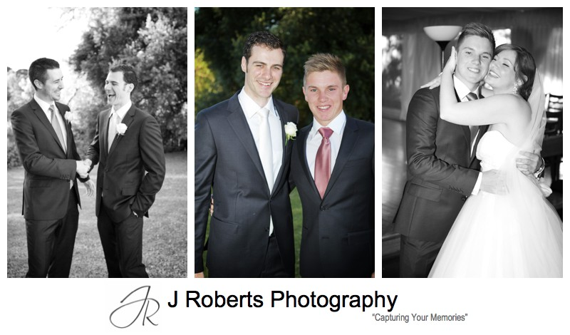Groom with groomsmen - wedding photography sydney