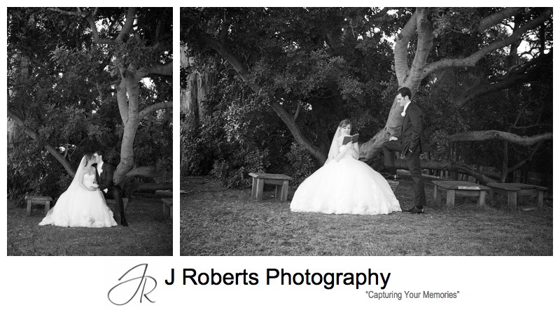 B&W portraits in Jane Austen era - wedding photography sydney
