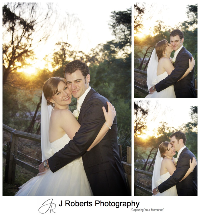 Couple portraits at sunset - sydney wedding photographer