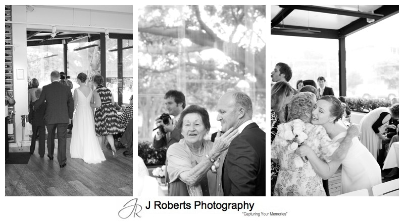 Couple arriving for wedding ceremony at Balmoral - wedding photography sydney
