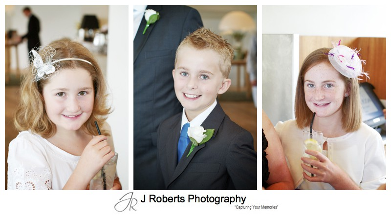 Kids at wedding - wedding photography sydney