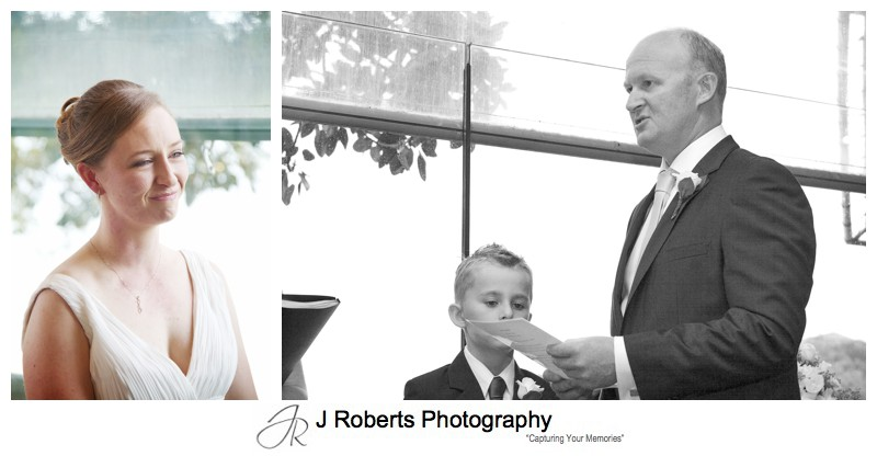 Groom saying his vows - wedding photography sydney