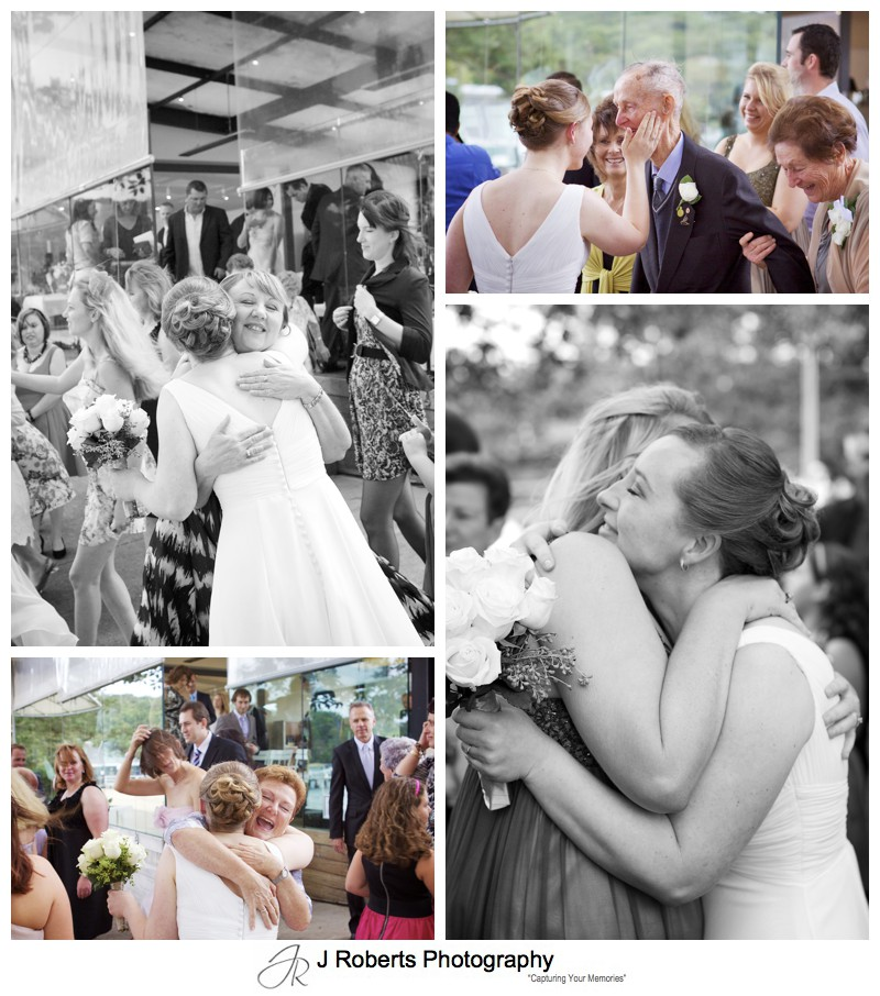 Bride being congratulated after wedding - wedding photography sydney