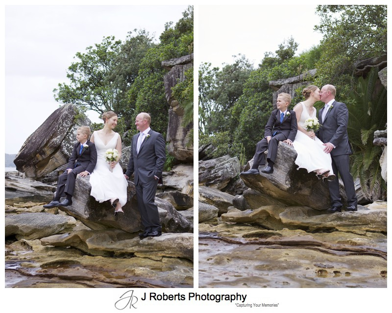 Bride & Groom at rockpools balmoral beach - wedding photography sydney