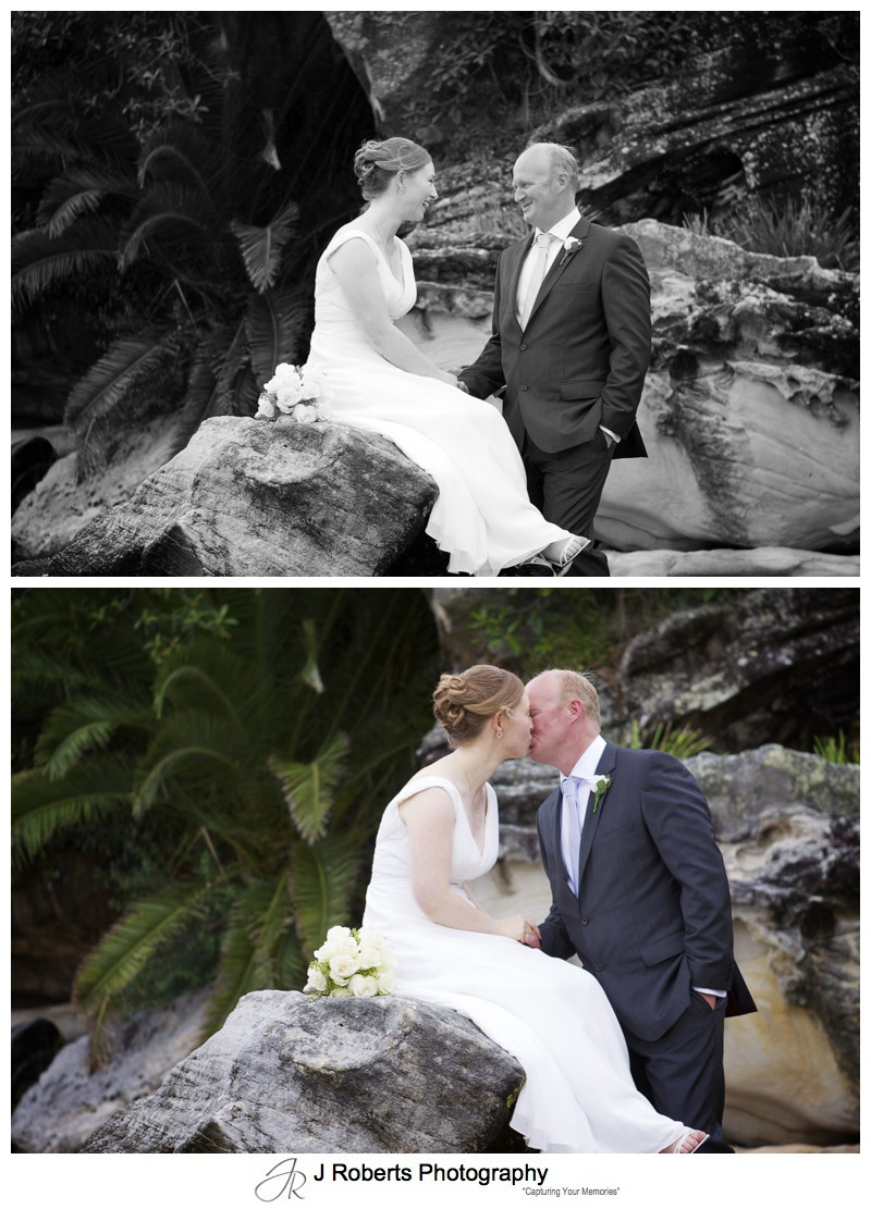 Bridal couple portraits balmoral beach - wedding photography sydney